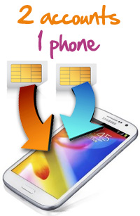 Dual SIM card phones for Solavei